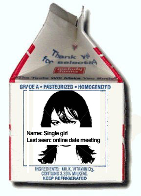 missing girl online dating milk carton