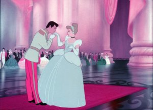 cinderella at the ball with prince charming
