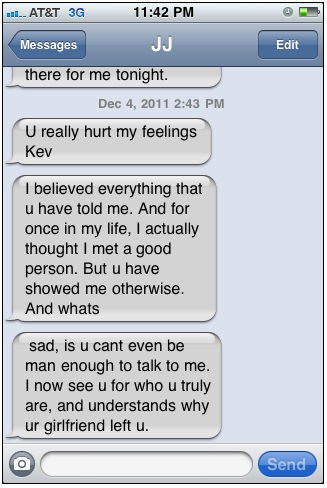crazy girl texting one night stand