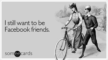 funny facebook friends break up