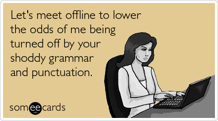 online dating and grammar funny