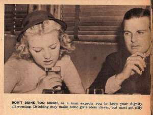 vintage dating tip drunk