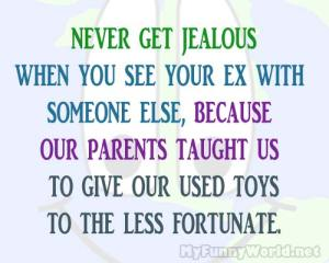 jealous over ex funny