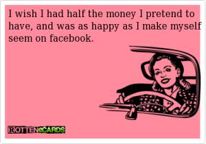 funny facebook pretend show off