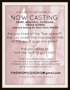 Single Women casting tv show