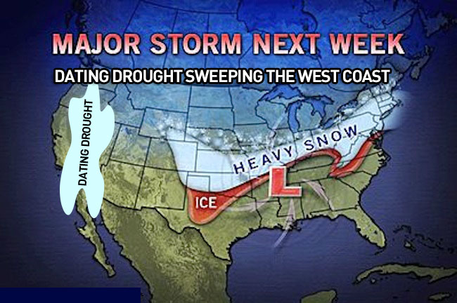 dating drought weather map