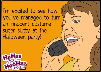 slutty halloween costume party funny
