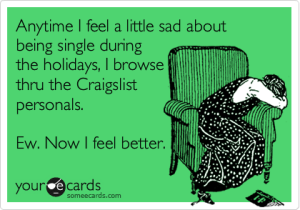 single on holidays funny ecard