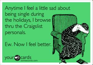 single on holidays funny ecard