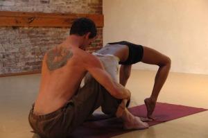 yoga couple backbend