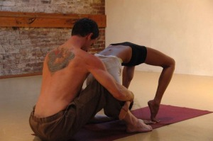 yoga couple backbend