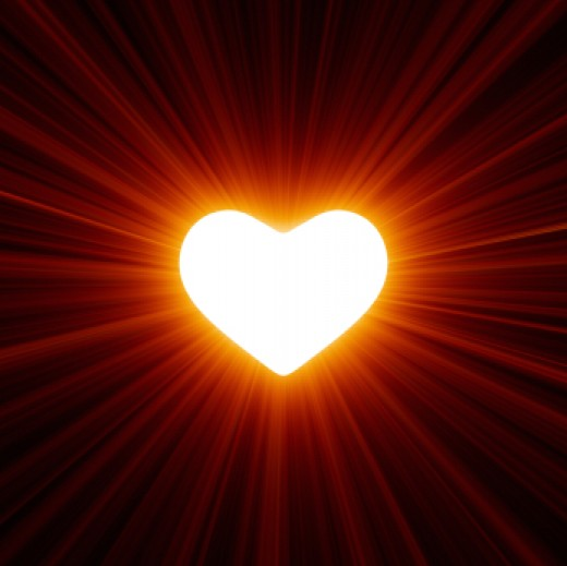 shining light heart
